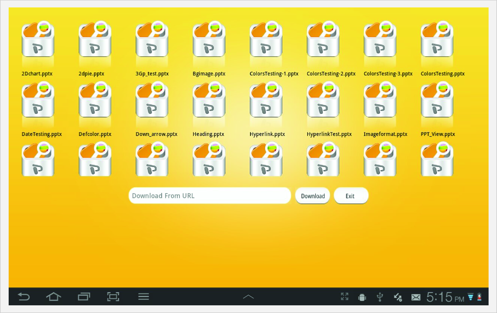 PowerPoint Viewer Folder View