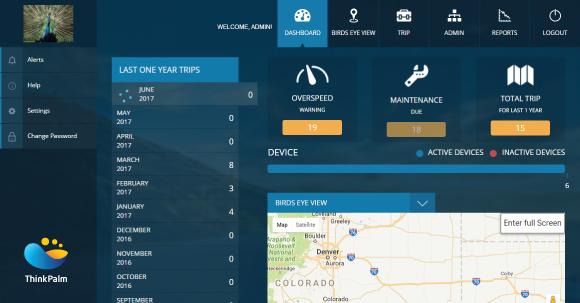 Astra Fleet Management Software - Dashboard
