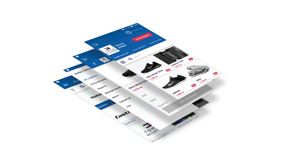 ECommerce Platform Screens